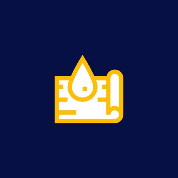 Icone Repelência à Água - Produtos Têxteis